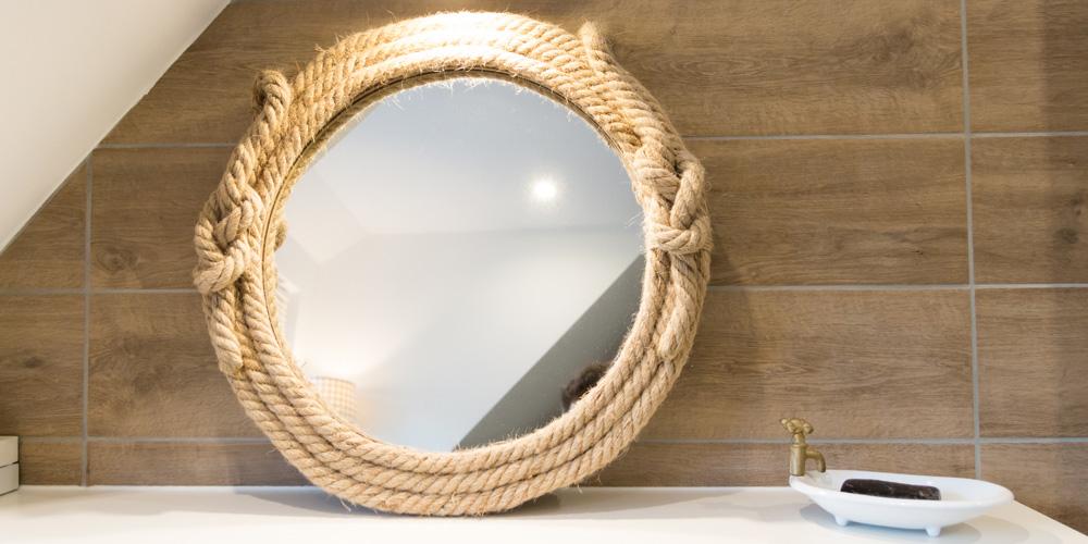 Badezimmer Kruschel Skandinavisches Design Spiegel